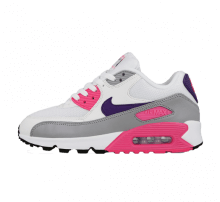 Nike Women's Air Max 90 White/Court Purple-Wolf Grey