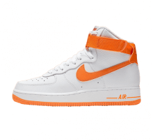 low priced a0d13 ed6b7 Nike Women s Air Force 1 High White Orange Peel