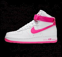 Nike Women's Air Force 1 High White/Laser Fuchsia-True Berry