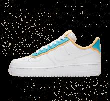 hot sale online 26217 15fec Nike Women s Air Force 1  07 SE White LT Blue Fury-Topaz Gold