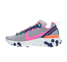 best service c4b4e 684de Nike Women s React Element 55 Wolf Grey Laser Fuchsia