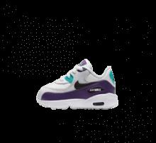 Nike Air Max 90 Leather TD White/Black-Hyper Jade-Court Purple