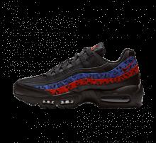 Nike Air Max 95 Premium Black Leopard Habanero Red/Racer Blue