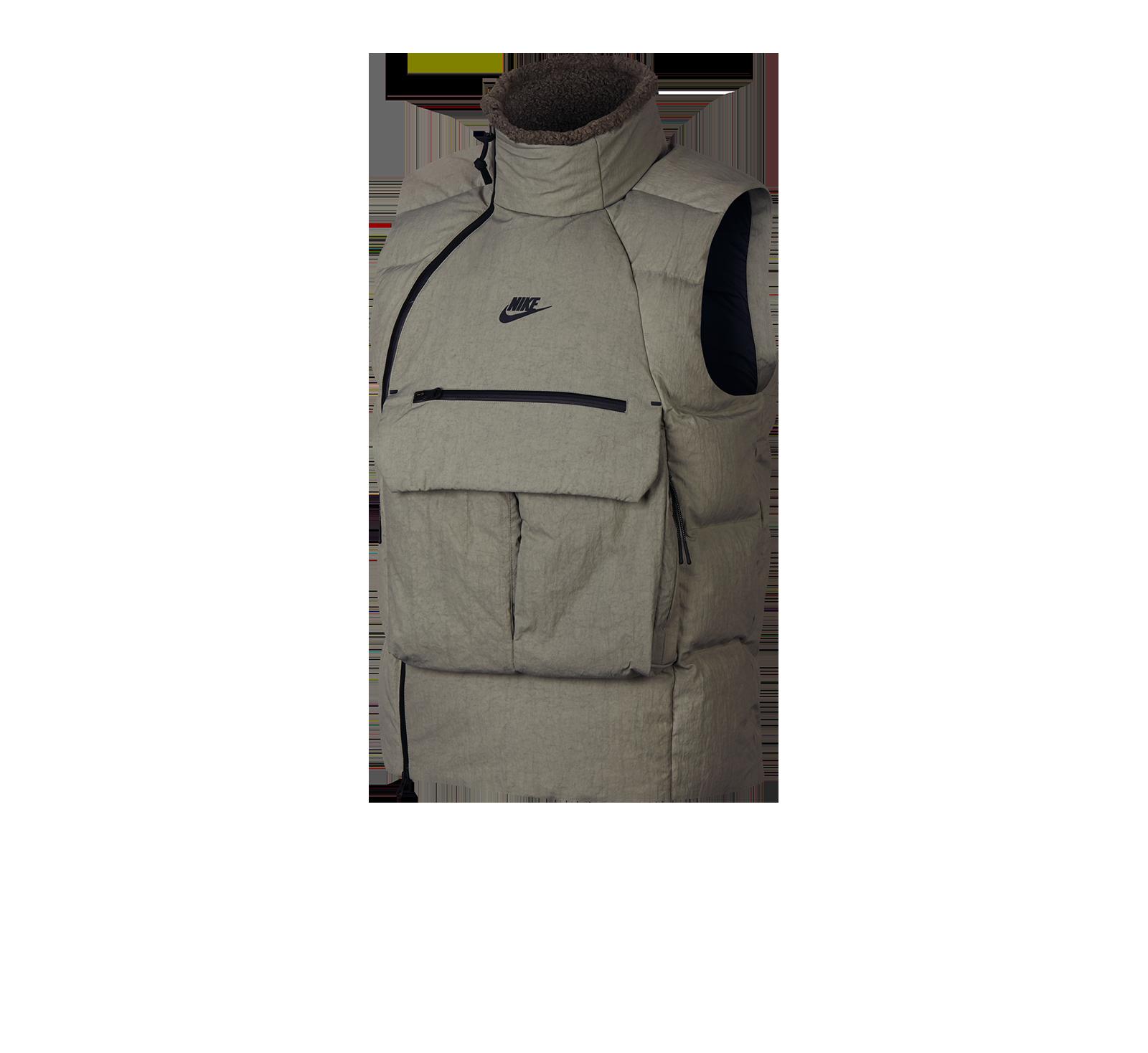 Nike Tech Pack Down Fill Vest Dark StuccoBlack 928909 004