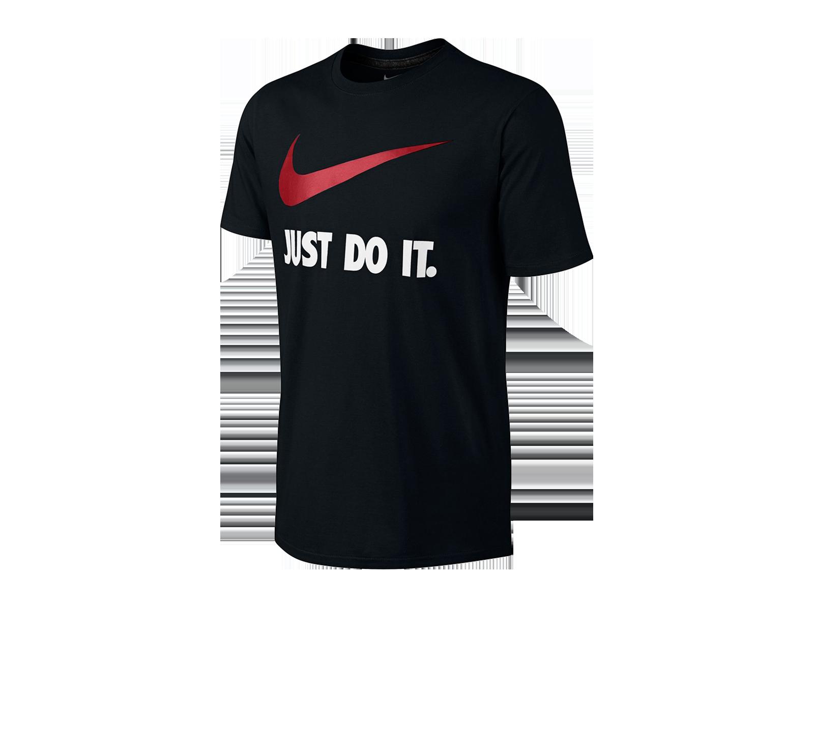 Nike Just Do it Swoosh T Shirt BlackVarsity Red 707360 010