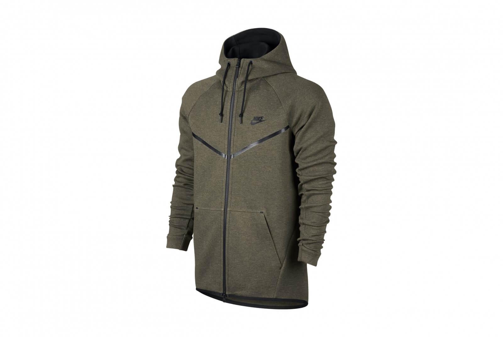 Nike Sportswear Tech Fleece Windrunner Medium Olive Heather Black 805144 222