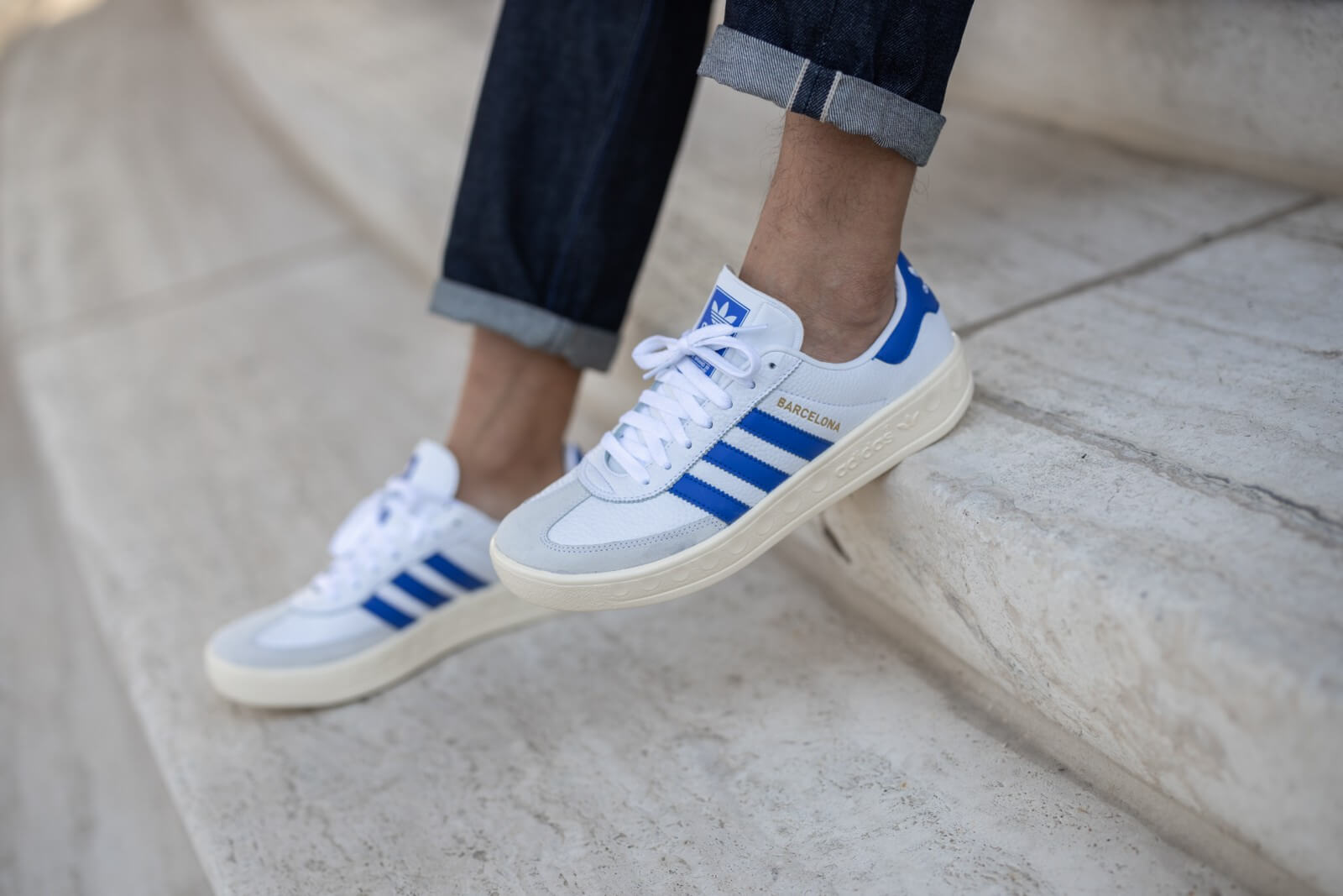 Adidas City Series Barcelona Cloud White/Blue-Cream White