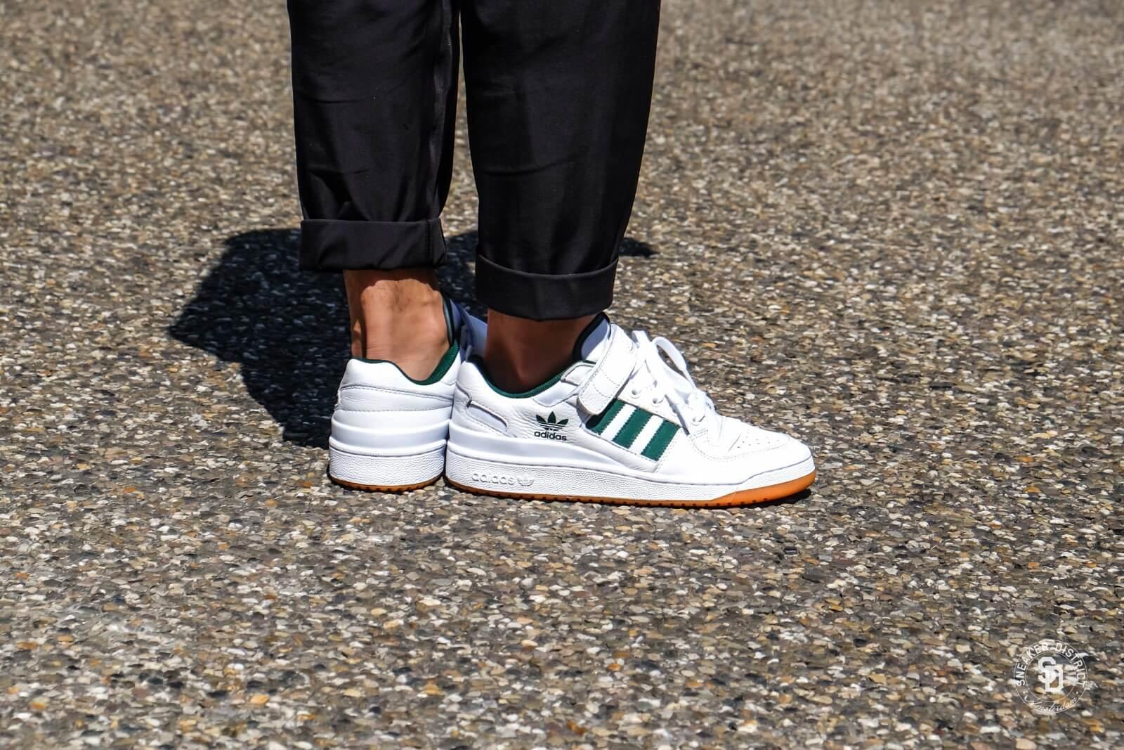 Adidas Forum Lo Footwear WhiteCore GreenGum AQ1261