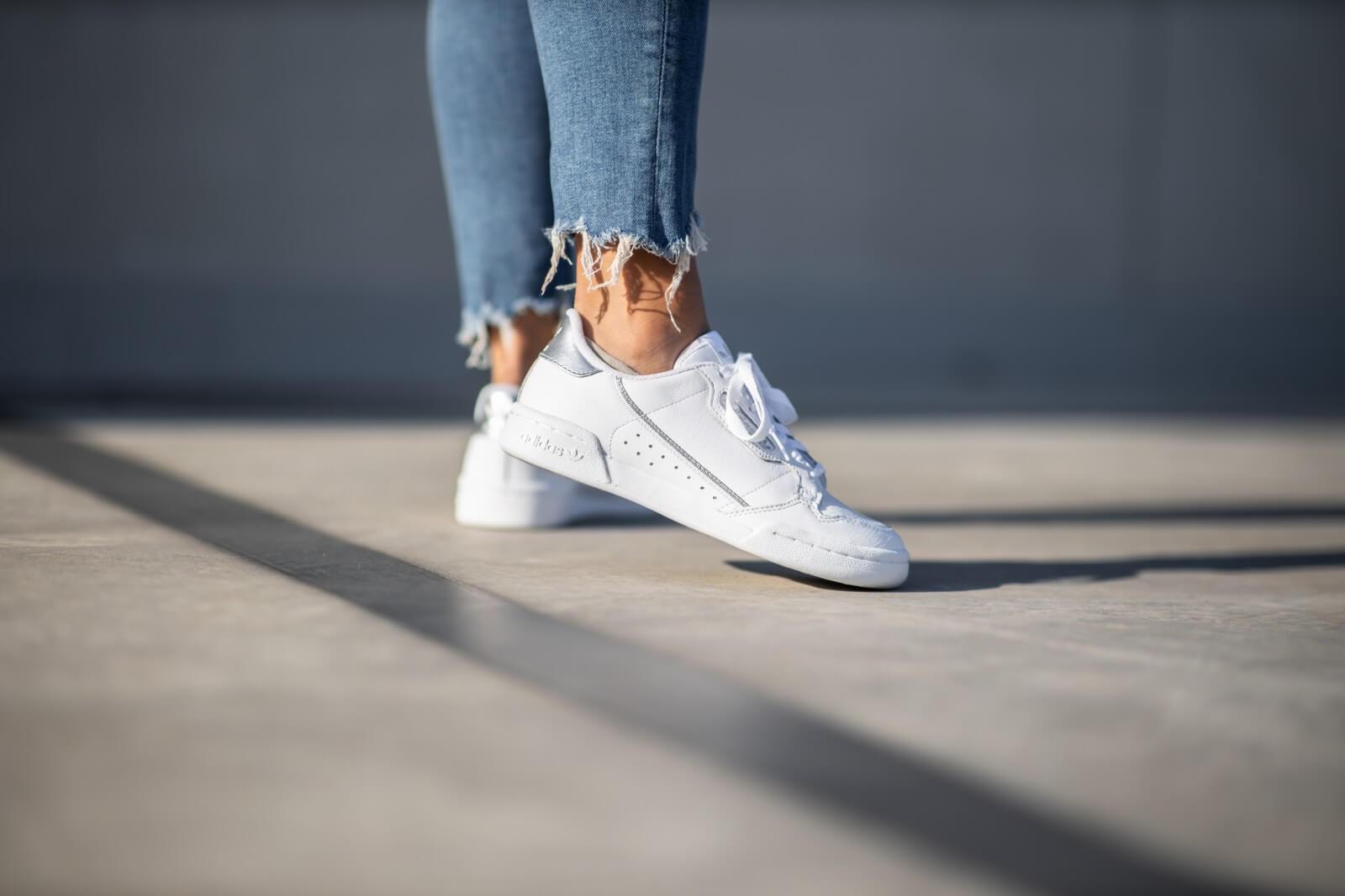 Adidas Women's Continental 80 Footwear White/Silver Metallic