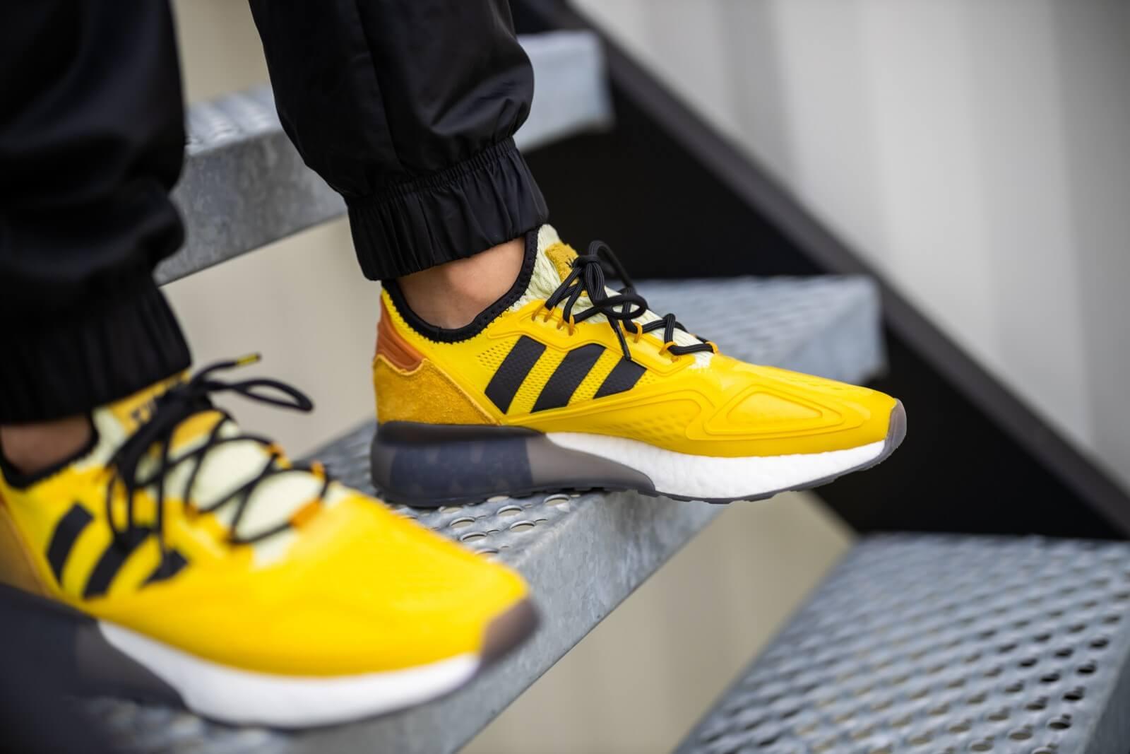 Adidas x Ninja ZX 2K Boost Yellow/Legacy Gold-Tech Copper