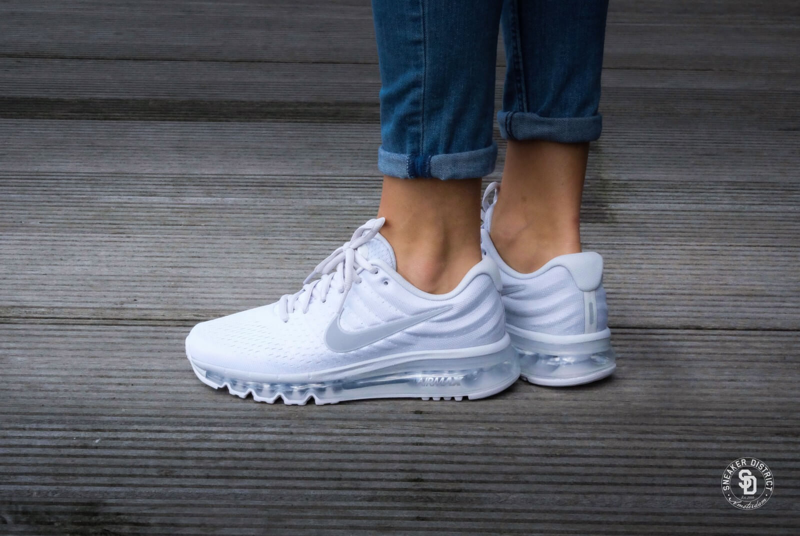 Nike Wmns Air Max 2017 Pure Platinum Wolf Grey White Off White 849560 009