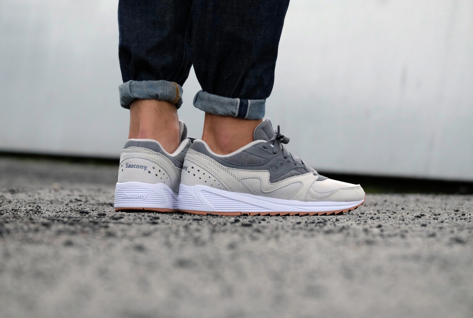Saucony Grid 8000 Chaussures Light Grey/Grey KWpxUGS