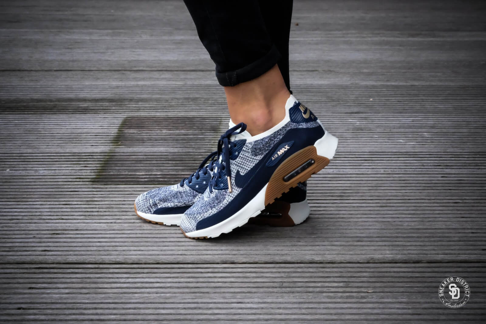 new arrival 4a64c b705a ... promo code for nike w air max 90 ultra 2.0 flyknit college navy gum med  brown