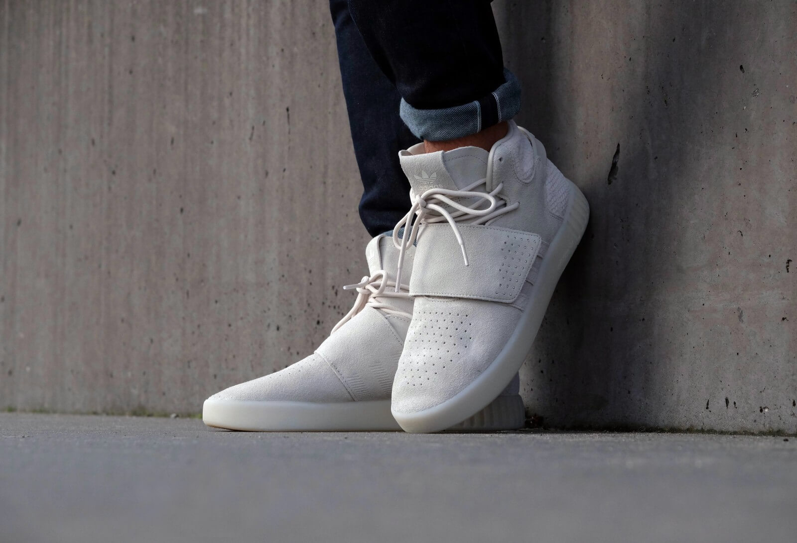 Adidas Tubular Invader Strap - Clear Brown / Chalk White
