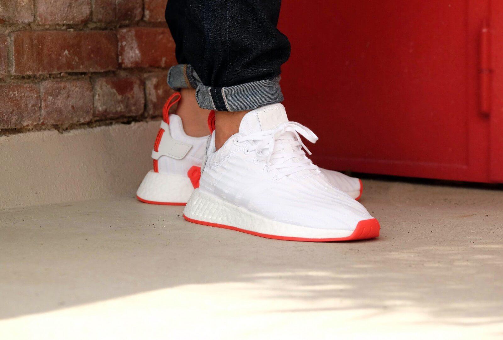 Adidas Nmd R2 Pk Footwear White Core Red Ba7253
