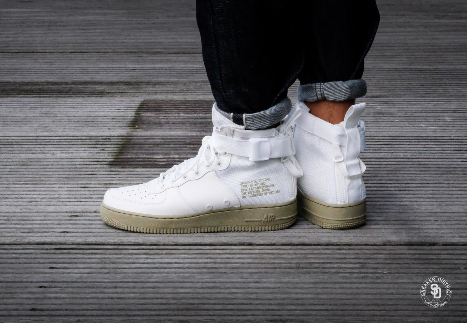 Nike Special Field Air Force 1 Mid Ivory Neutral Olive 917753 101