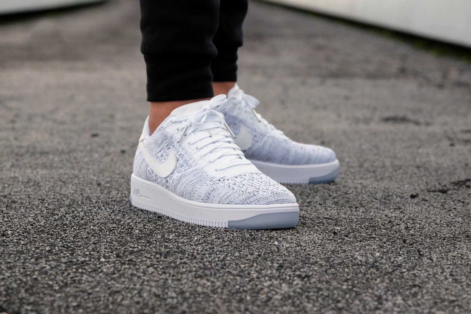 59a841421d0b28 ... closeout nike wmns air force 1 flyknit low white white black 6eba6 b342b