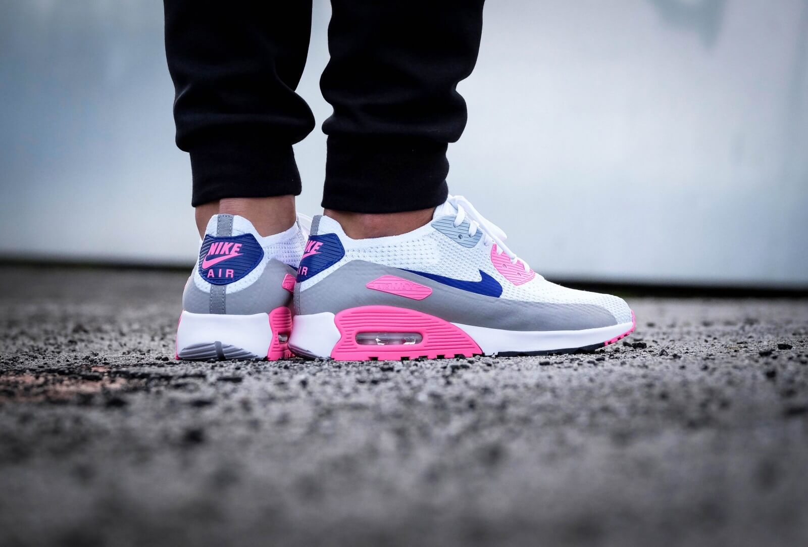 Nike AIR MAX 90 ULTRA 2.0 FLYKNIT WOMENS WhitePinkBlue