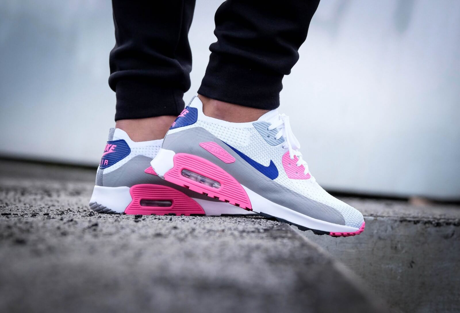 e9d2414e361be1 ... sweden nike wmns air max 90 ultra 2.0 flyknit white concord laser pink  black adac0 60d58