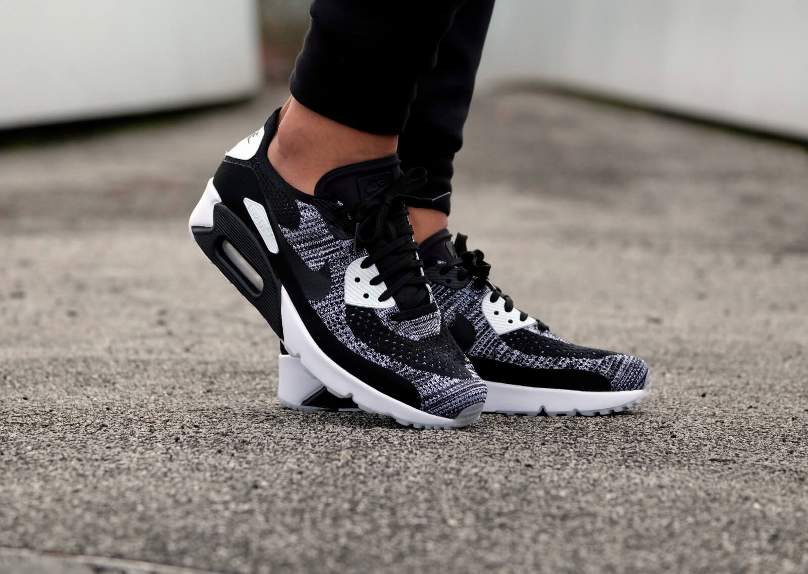 Nike Air Max 90 Ultra 2 0 Flyknit Black Black White