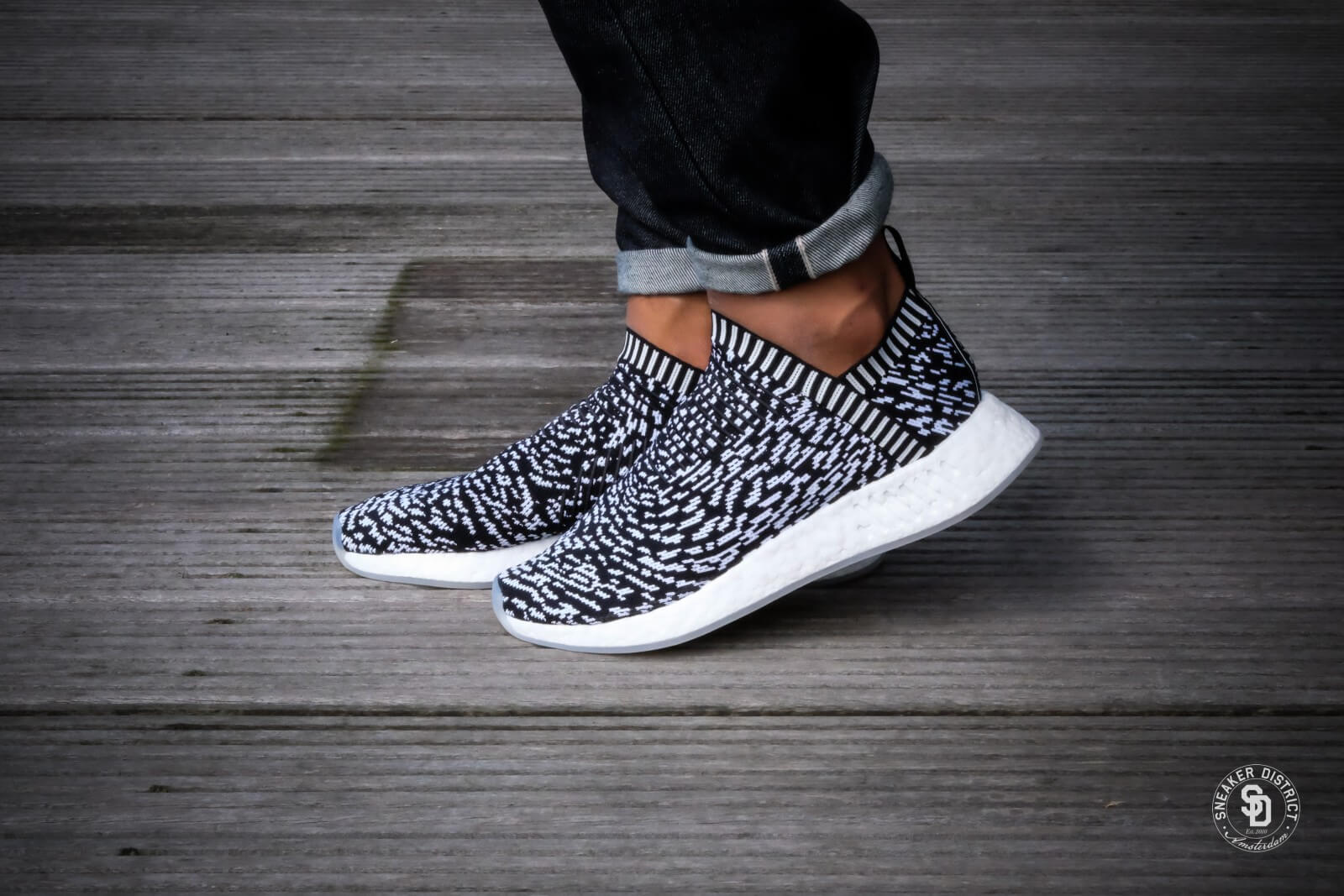 Adidas NMD CS2 City Sock Primeknit Zebra Sashiko Pack BY3012