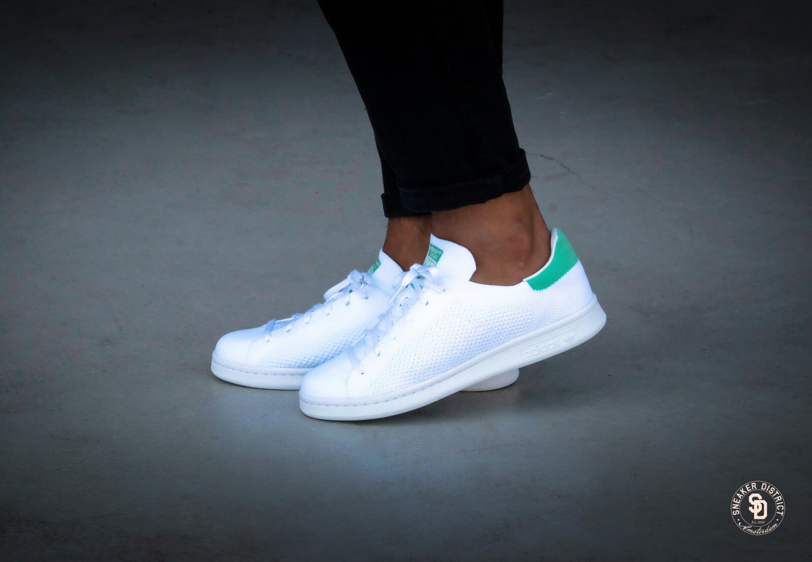 Adidas Stan Smith PK - Footwear White/Green Glow