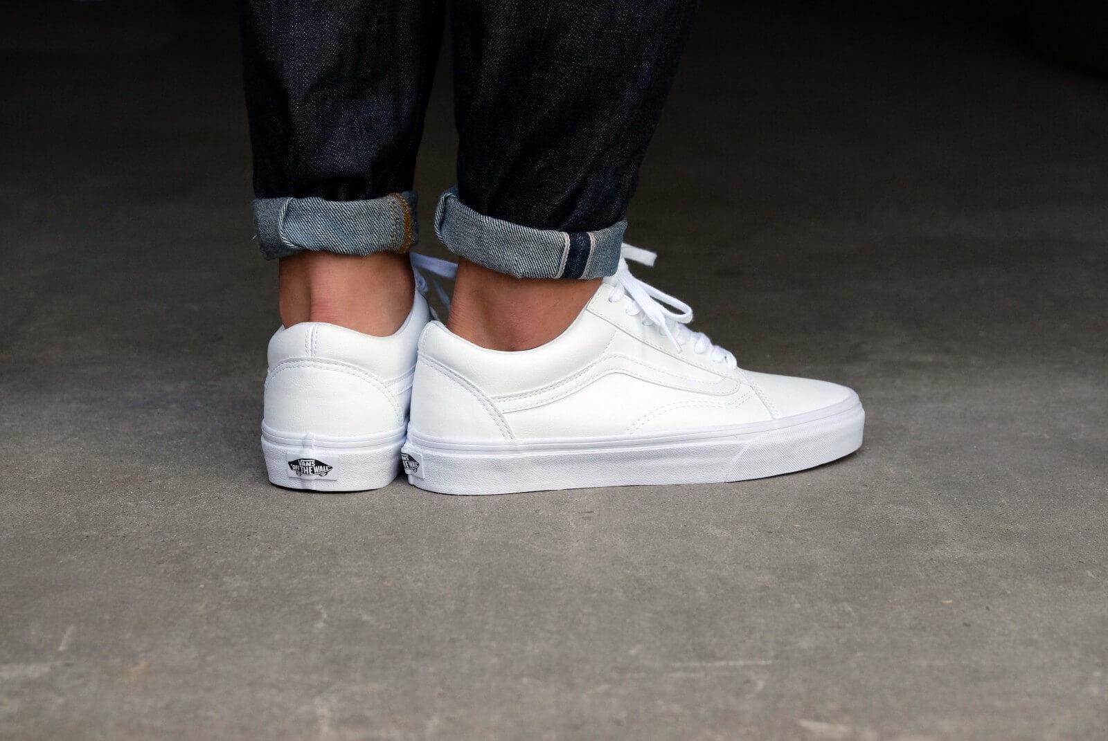 Blanc sneakers Vans Ua Old Skool Classic Tumble Truewhite