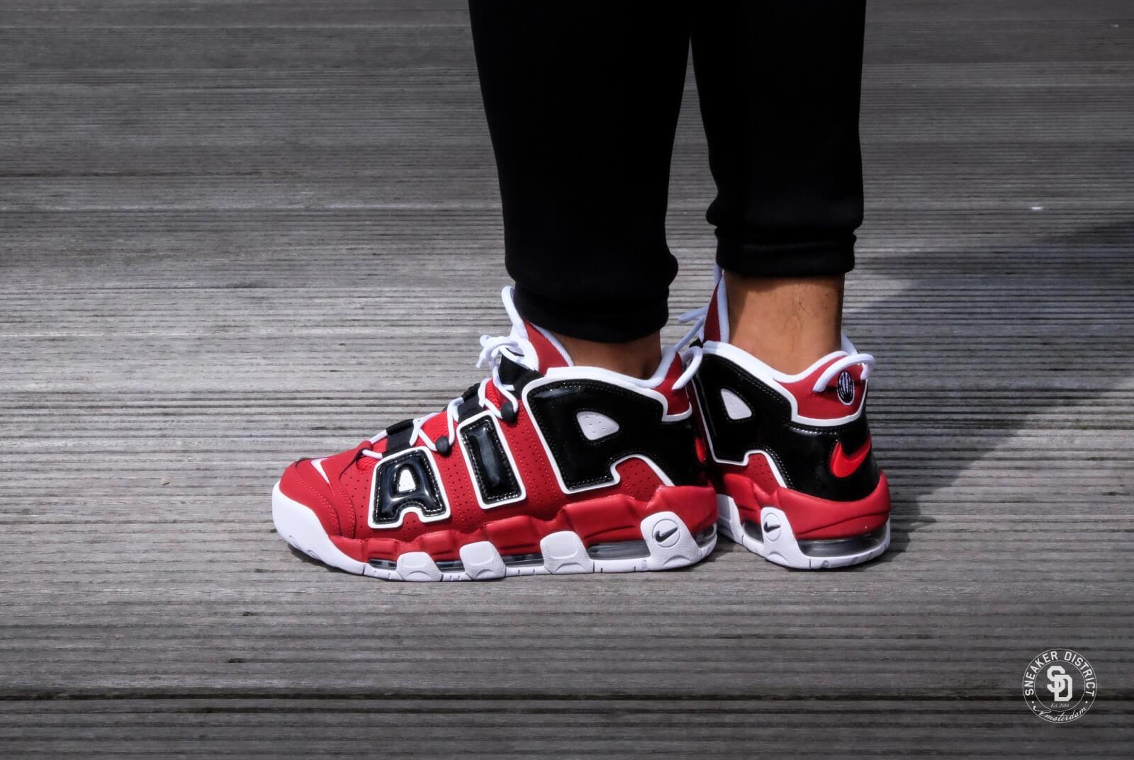 Nike Air More Uptempo 96 Varsity Red White Black