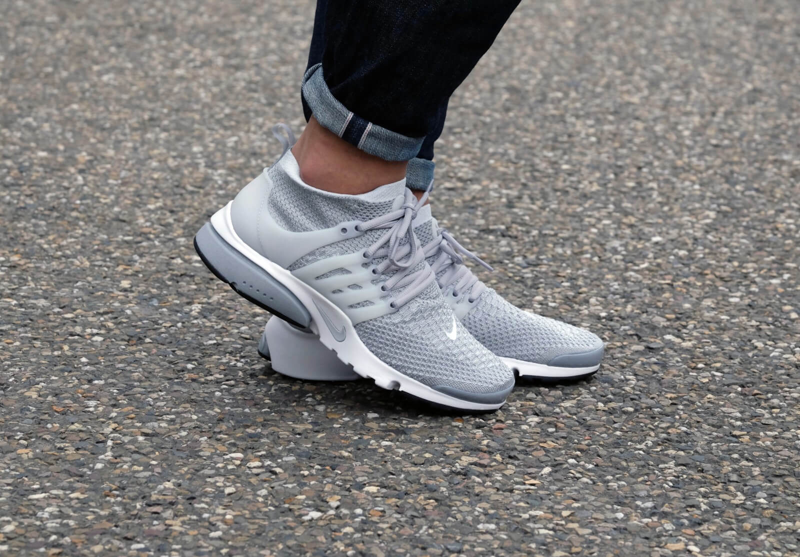 Nike Air Presto Flyknit Ultra - Wolf Grey / Pure Platinum / White Black