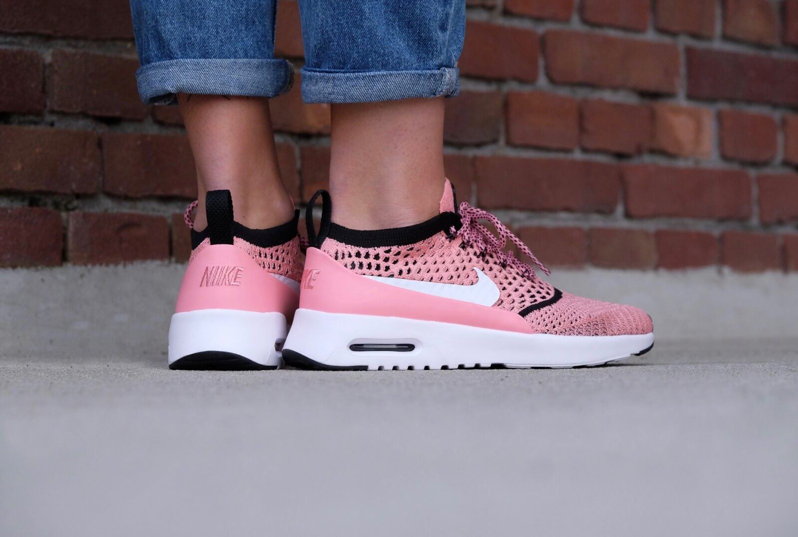 Nike WMNS Air Max Thea Ultra Flyknit Bright melon White black 881175 800