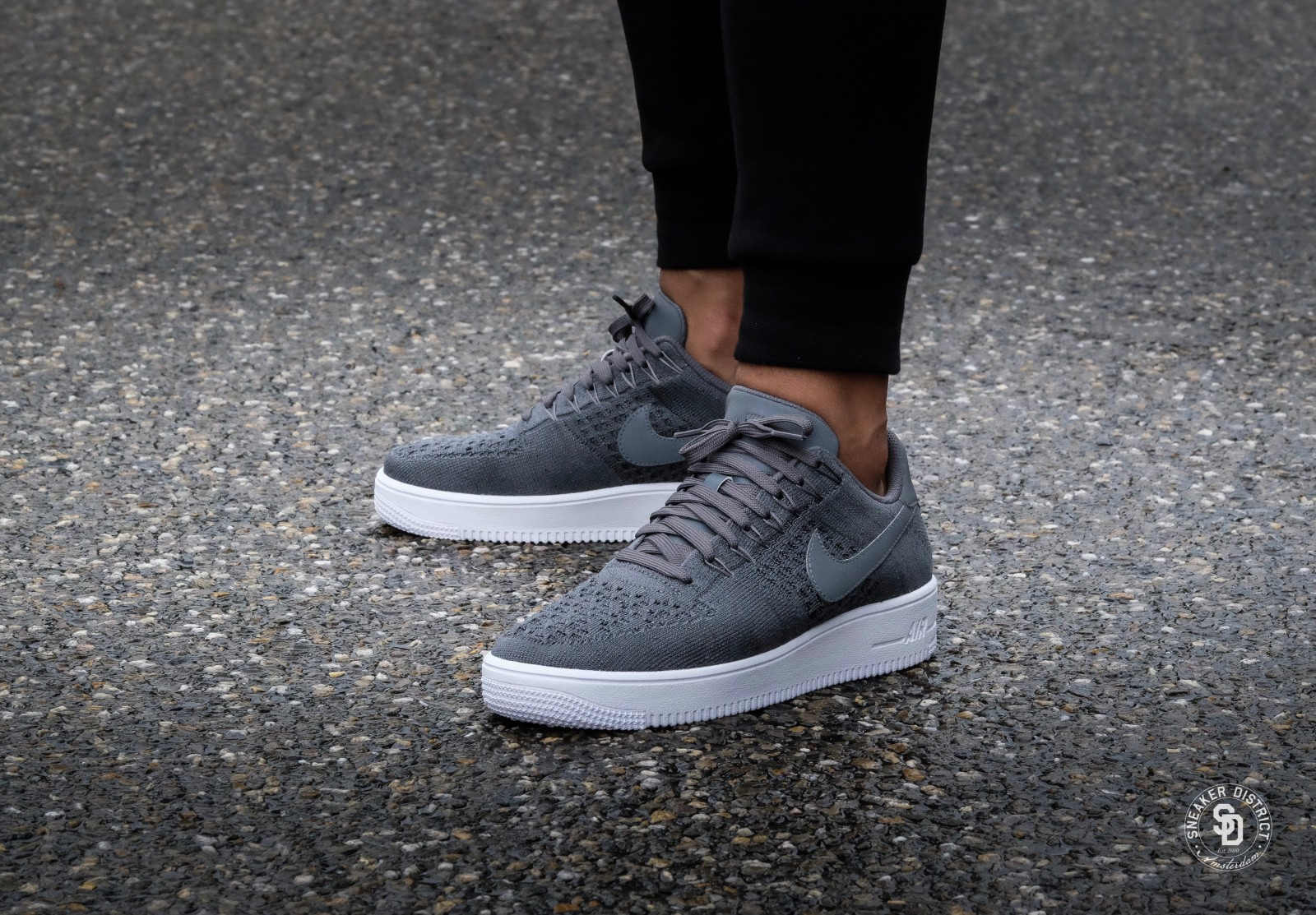 807618 200 Nike Air Force 1 Mid X Reigning Champ 3M GreyBlack For Sale