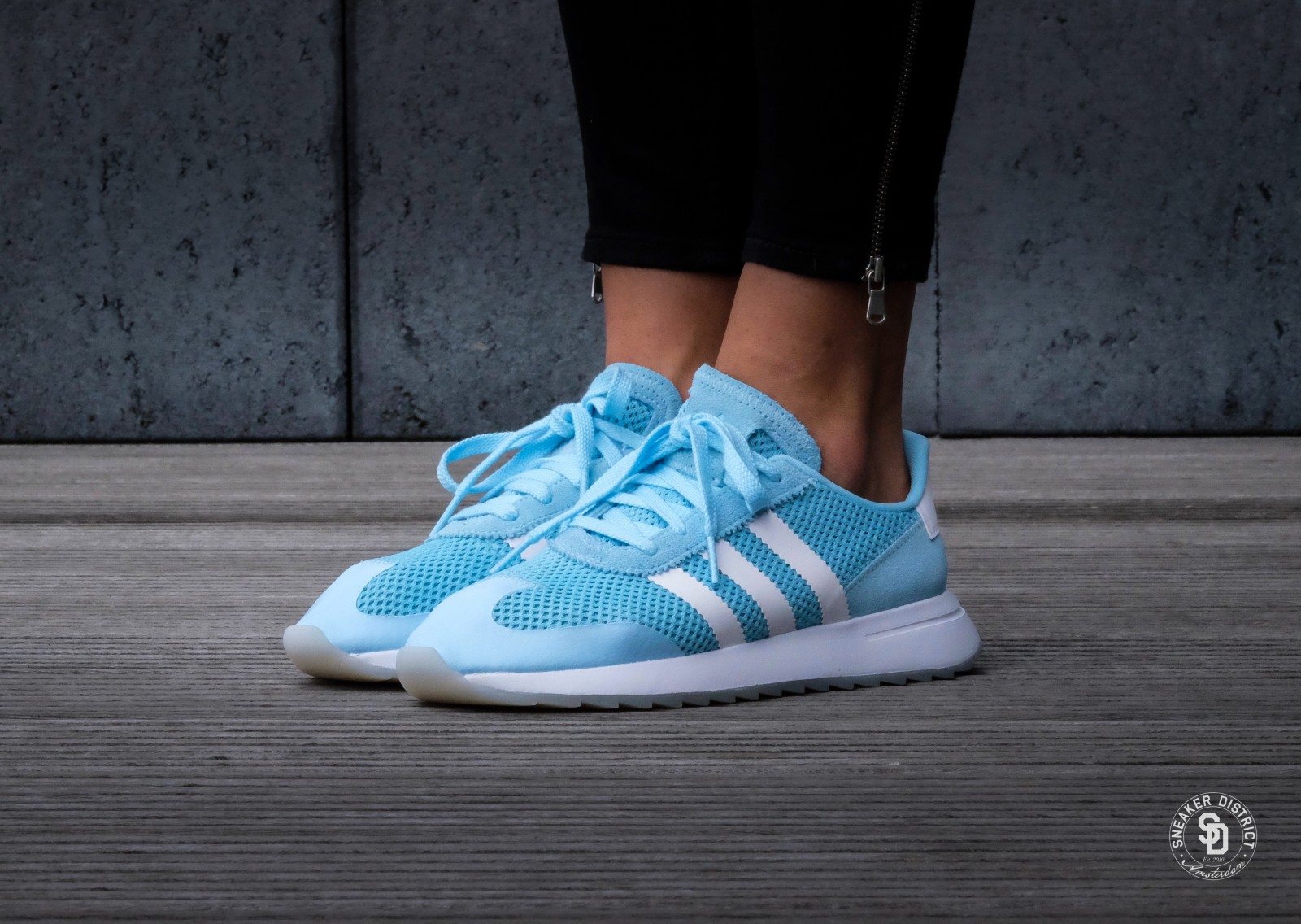 ADIDAS Baskets Femmes FLB W by9306 turquoise AKLy73