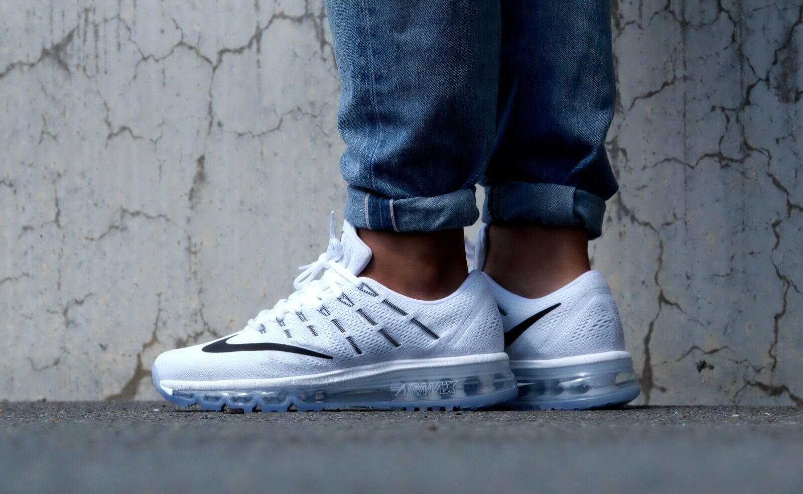 Nike Air Max 2016 Summit White Black 806771 100
