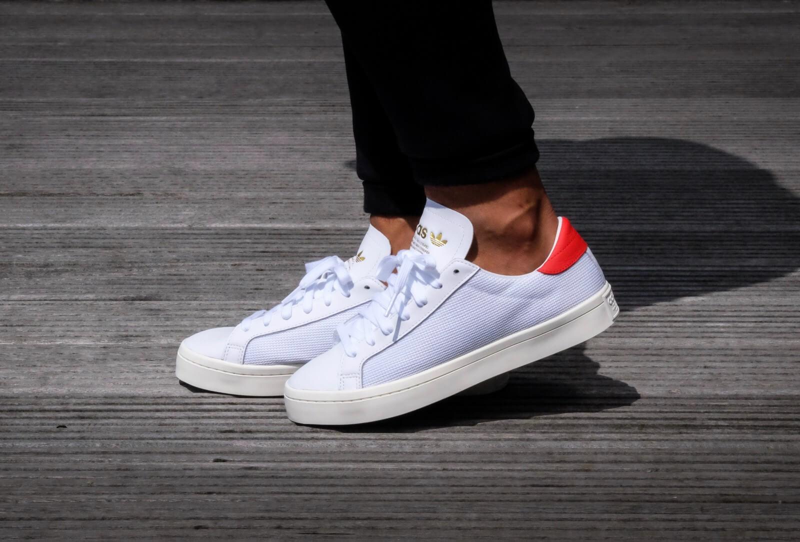 Adidas Court Vantage Footwear White Red BZ0428