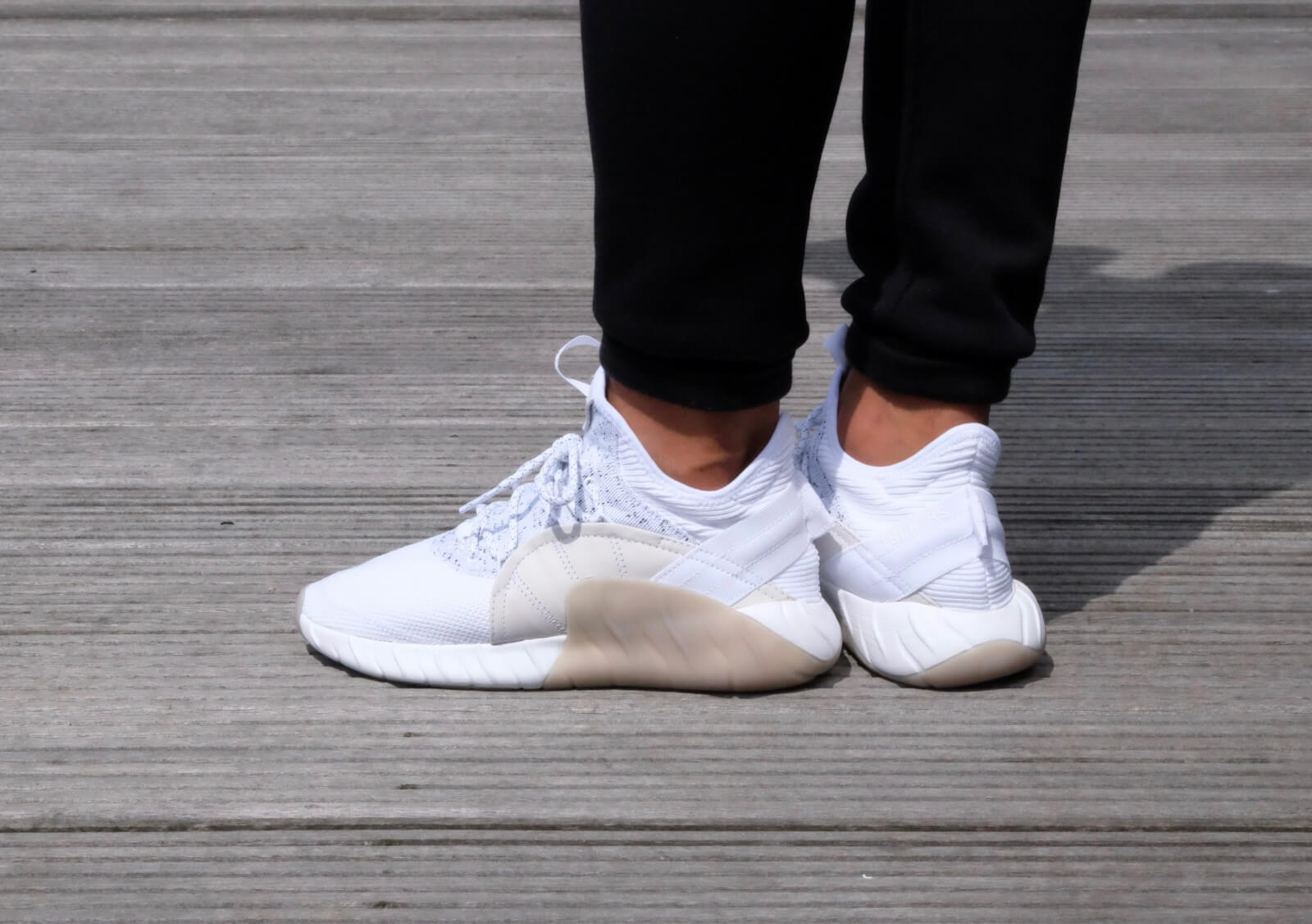 Adidas Tubular Rise Footwear White Footwear Black BY3555