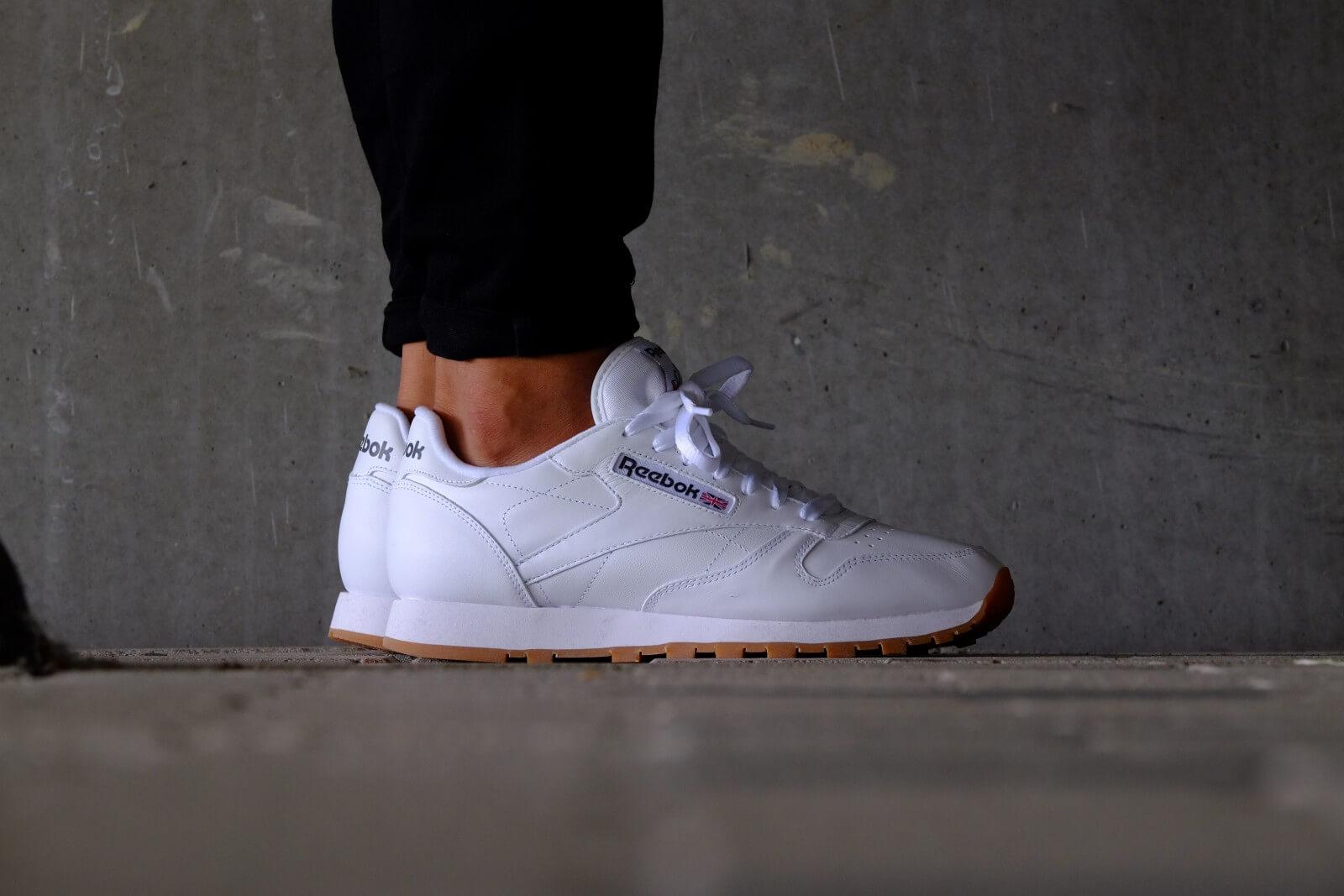 Reebok Clásicos Zapatos De Cuero Blanco uiVo6lD