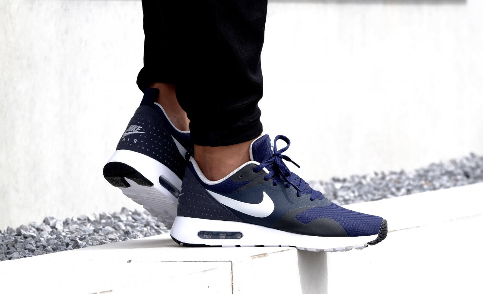 brand new c5ba3 f7982 ... discount nike air max tavas white midnight navy 7bd1f a9e99