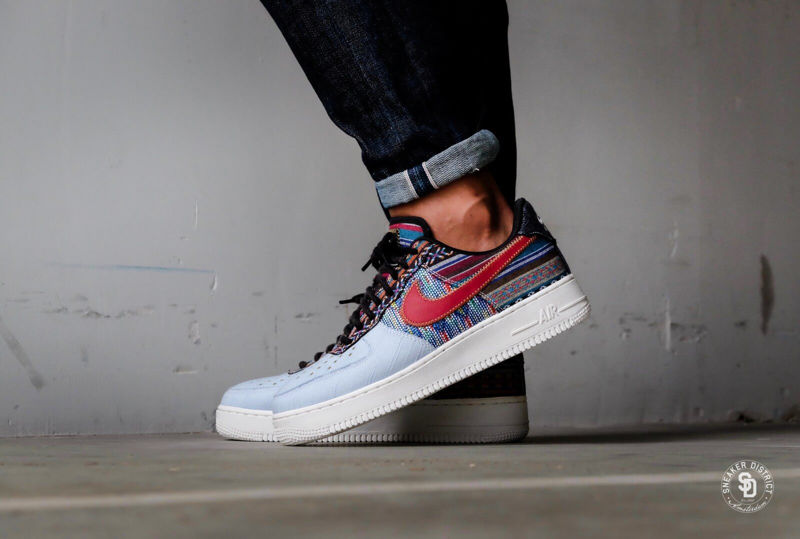 Nike Air Force 1 ´07 LV8 Light Armory Blue Gym Red   Footshop
