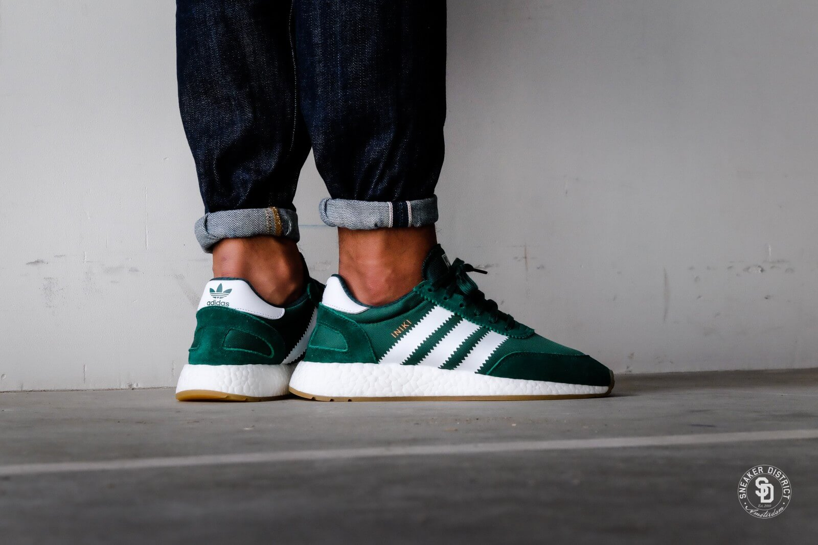 adidas iniki runner boost green white by9726. Black Bedroom Furniture Sets. Home Design Ideas