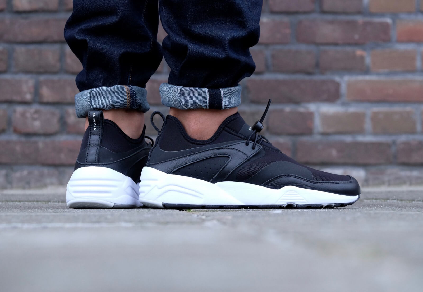 Puma Blaze of Glory NU x Stampd Black Puma White 0361493 02