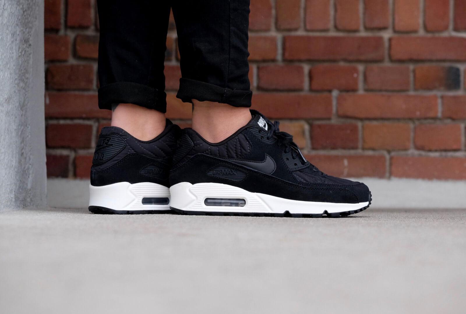 Nike W Air Max 90 Black Black Black White