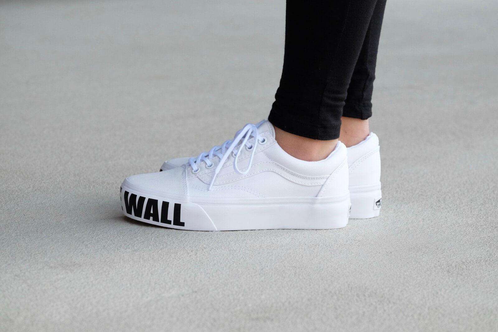 Vans Old Skool Platform True White ( OFF THE WALL ) VNOA3B3UNZC