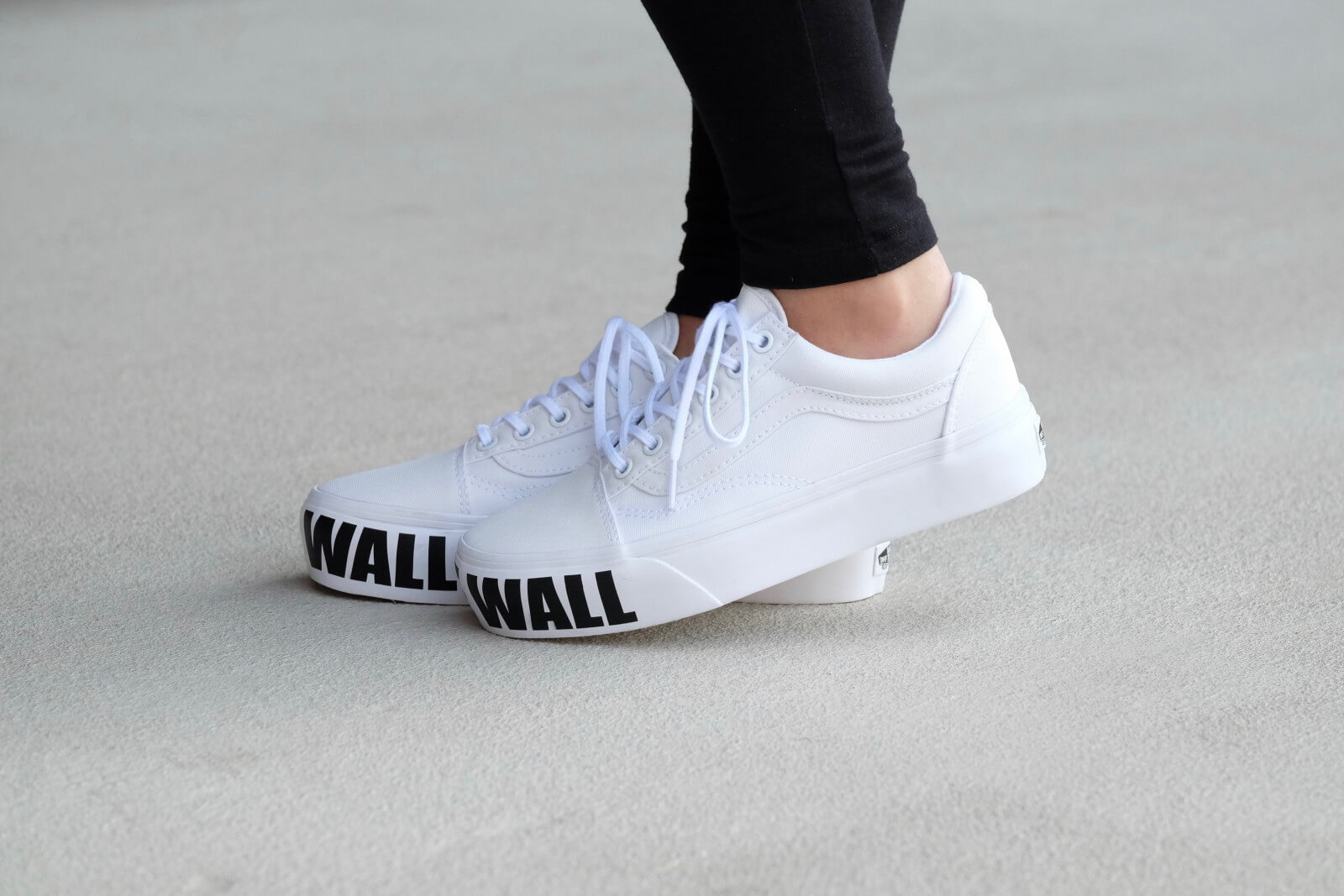 Vans Old Skool Platform - True White ( OFF THE WALL )