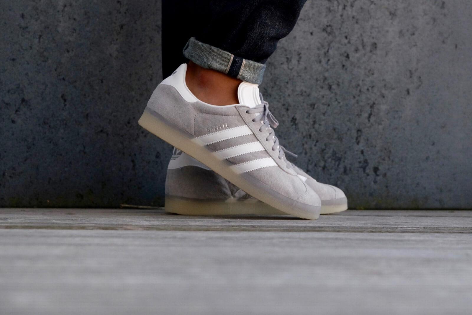 Adidas Gazelle Mid Grey/ White