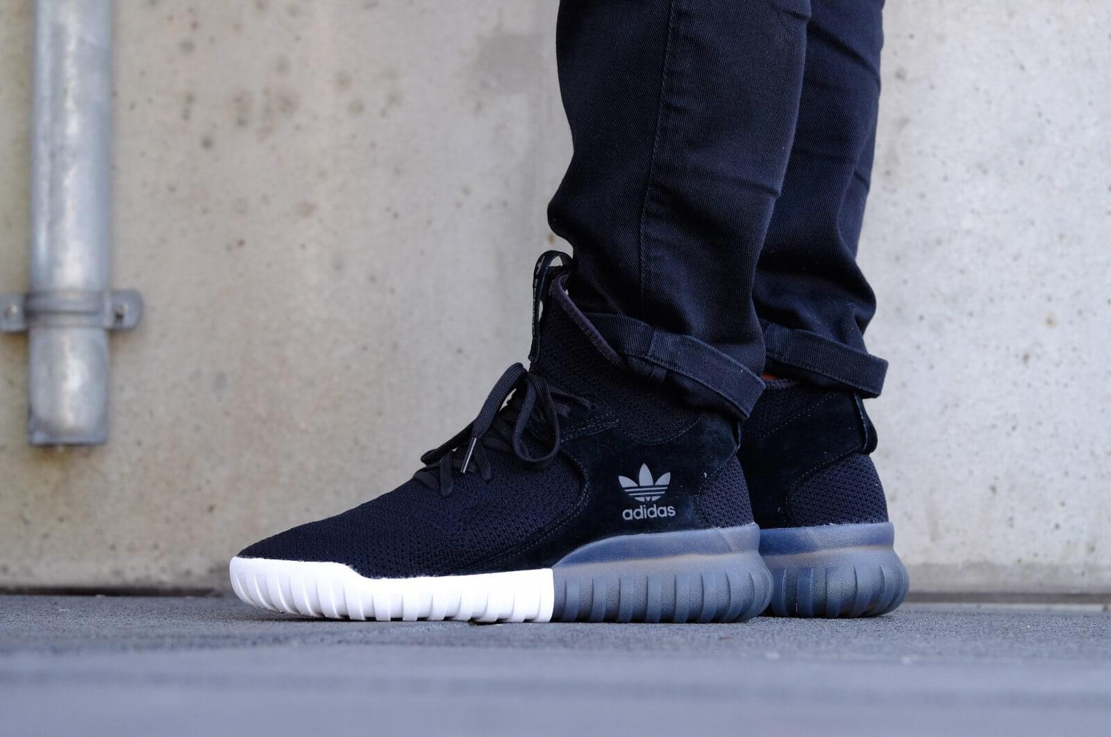 Adidas Tubular X Primeknit Black White -