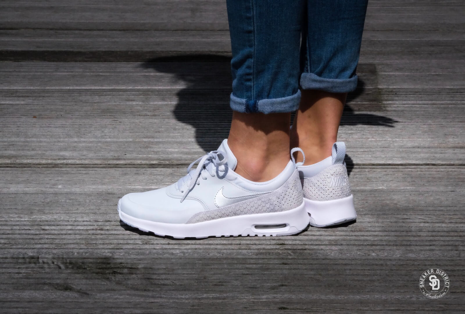 Nike Wmns Air Max Thea PRM Pure Platinum Pure Platinum White 616723 018