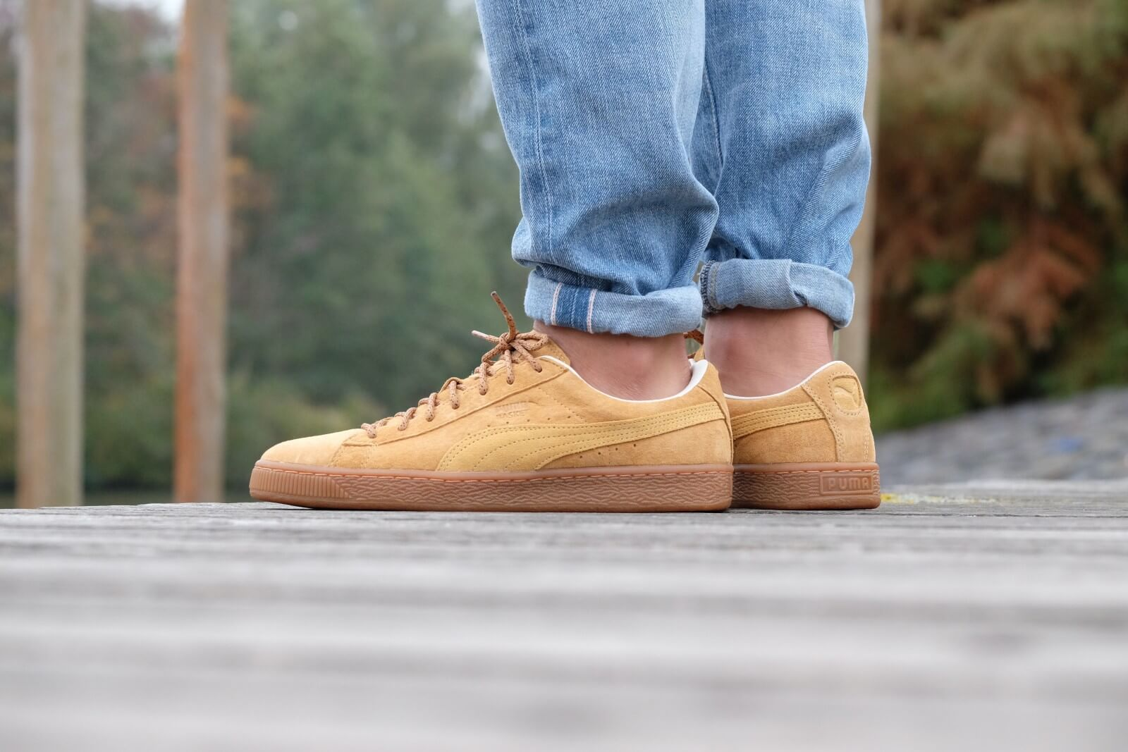 puma basket winterized beige