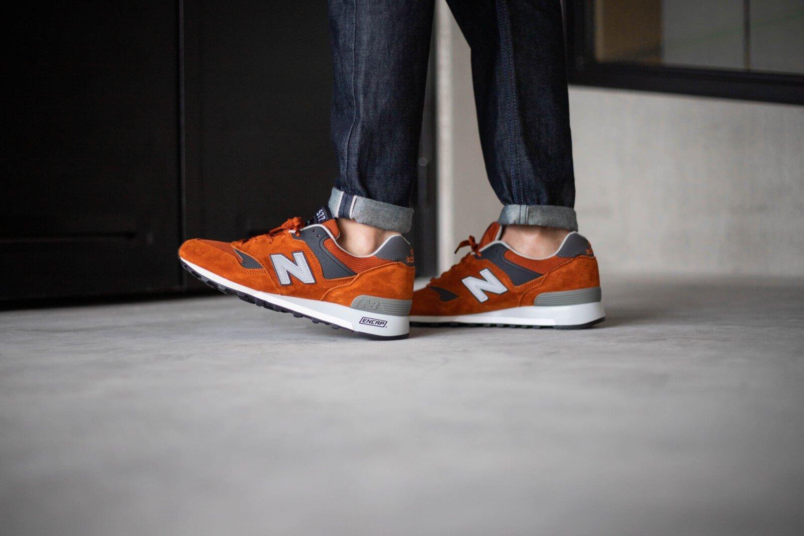 new balance gris orange homme