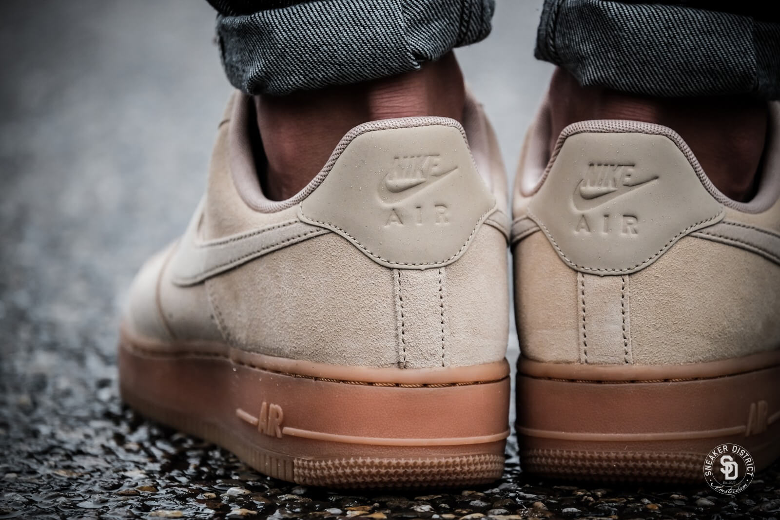 nike air force suede ivory femme