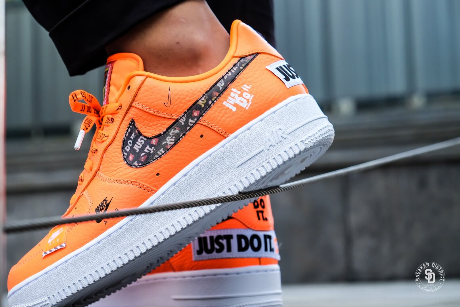 nike air force 1 just do it orange